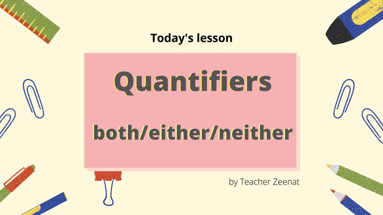 ภาษาอังกฤษ : Quantifies